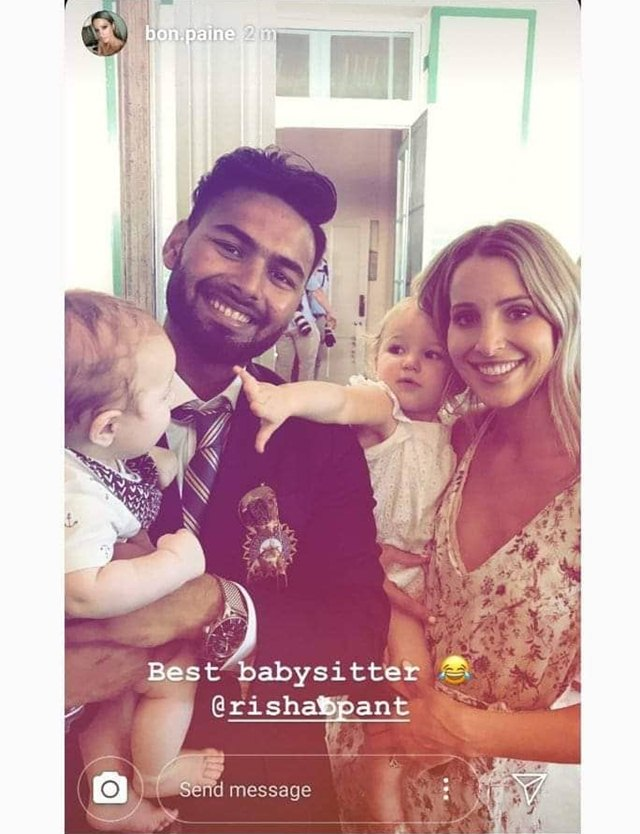 Tim Paine's wife's Instagram story