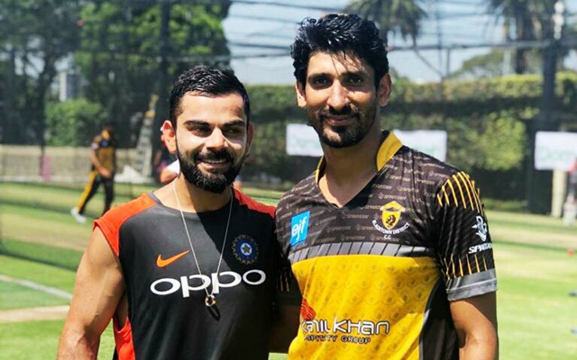 Virat Kohli and Salman Irshad
