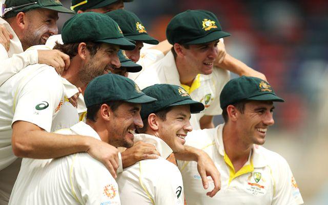 Tim Paine and the Australian team