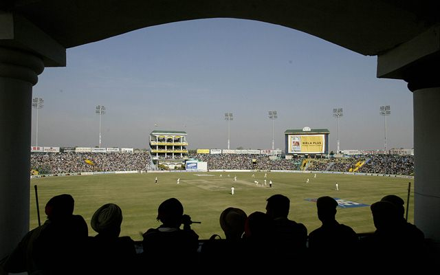 A general view of play at the PCA Mohali Stadium