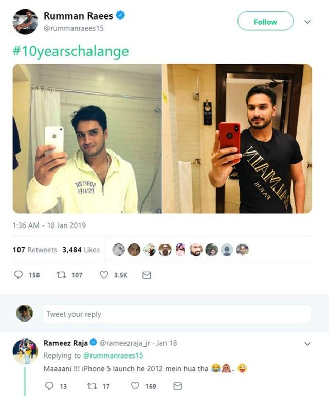 Rameez Raja's reply