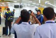 MS Dhoni arrival