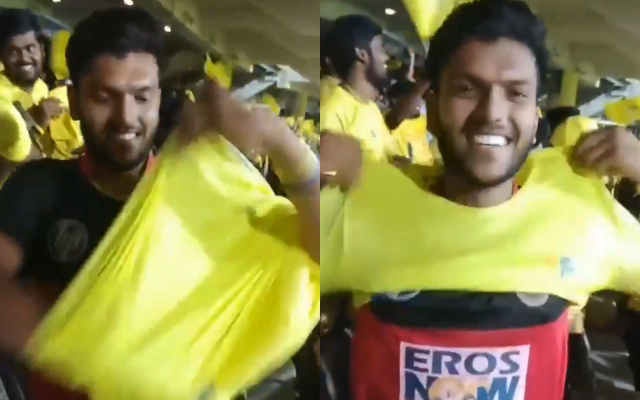 RCB and CSK Fan