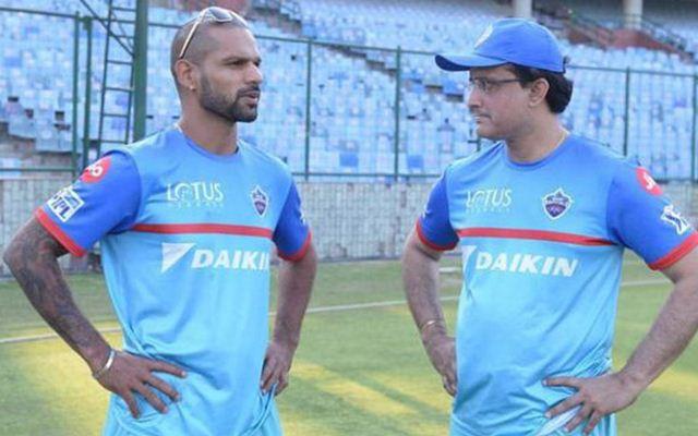 Shikhar Dhawan and Sourav Ganguly