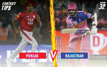 IPL 2019 KXIPvRR Fantasy Tips Kings XI Punjab vs Rajasthan Royals