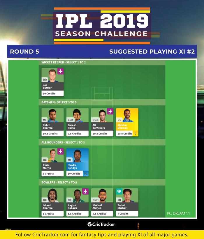 IPL-2019---Season-Challenge--Round-5-Suggested-Playing-XI-2