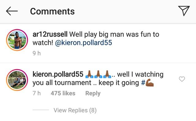 Kieron Pollard's comment