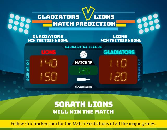 Saurashtra-Premier-League-2019-match prediction -Gohilwad-Gladiators-vs-Sorath-Lions