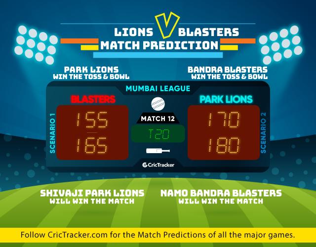 T20-Mumbai-League-2019-match-prediction-Shivaji-Park-Lions-vs-NaMo-Bandra-Blasters