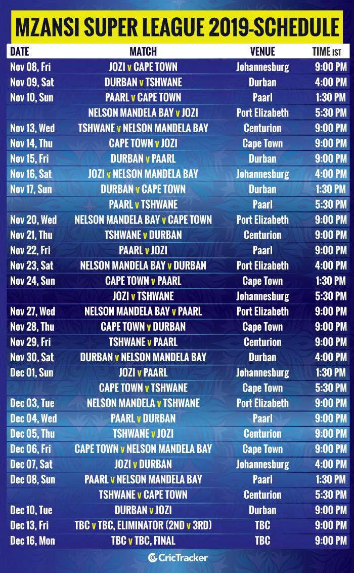 Mzansi-Super-League-2019-schedule