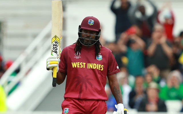 Chris Gayle scored 0 in return to the West Indies squad.