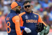 Virat Kohli speaks with MS Dhoni NADA