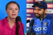 Greta Thunberg and Rohit Sharma