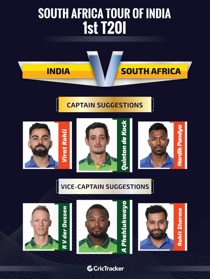 INDvSA-1st-T20I-Captain-n-Vice-captain-for-Fantasy-teams-site