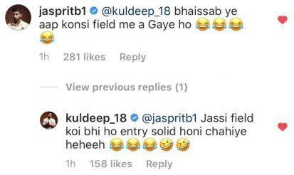 Jasprit Bumrah's comment