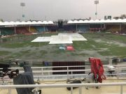 Karachi Stadium rain
