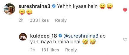 Suresh Raina's comment