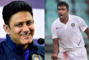 Anil Kumble and Ravi Ashwin