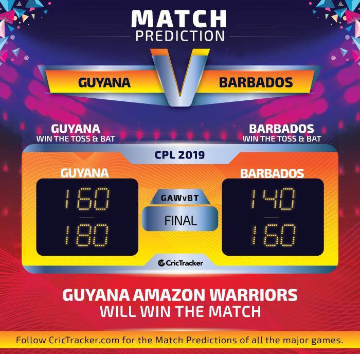 CPL-2019-GAWvBT-final-Prediction-Guyana-Amazon-Warriors-vs-Barbados-Tridents