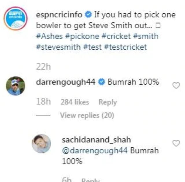 Darren Gough's comment