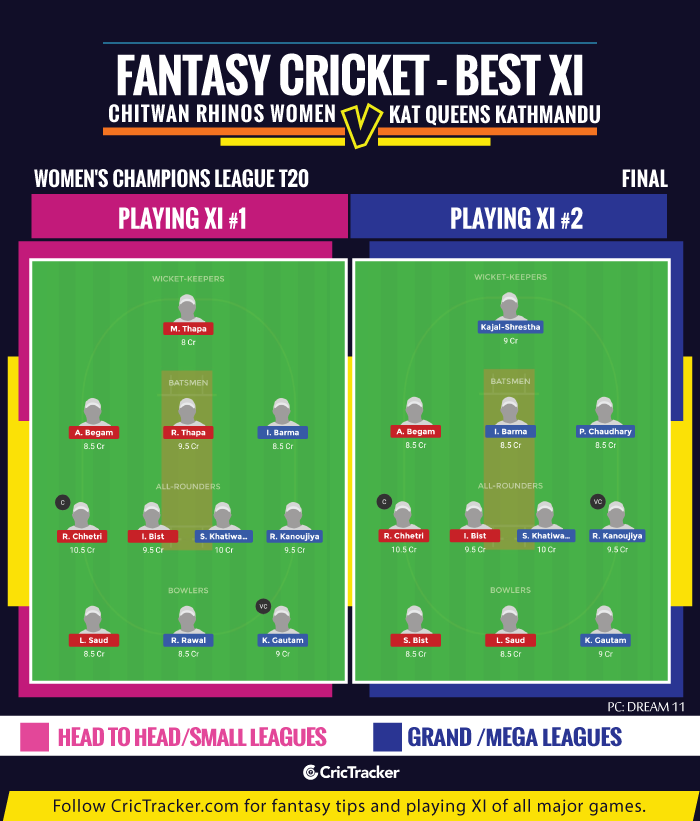 Fantasy-Tips-XI-Chitwan-Rhinos-Women-vs-Kat-Queens-Kathmandu