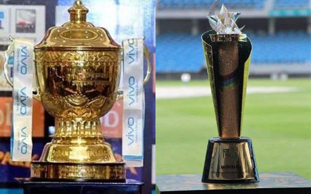 IPL Trophy and PSL trophy