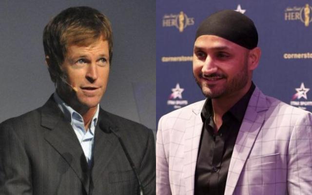Jonty Rhodes and Harbhajan Singh