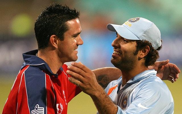 Kevin Pietersen and Yuvraj Singh