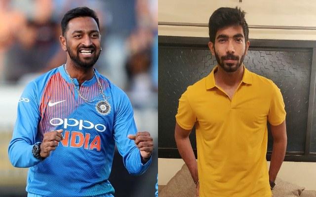 Krunal Pandya and Jasprit Bumrah