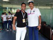 MS Dhoni and Ravi Shastri