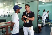 MS Dhoni and Shahbaz Nadeem