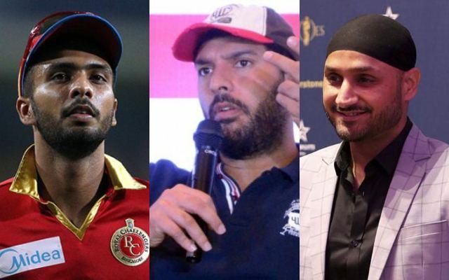 Mandeep Singh, Yuvraj Singh and Harbhajan Singh