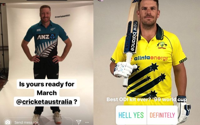 New Zealand and Australia ODI kits