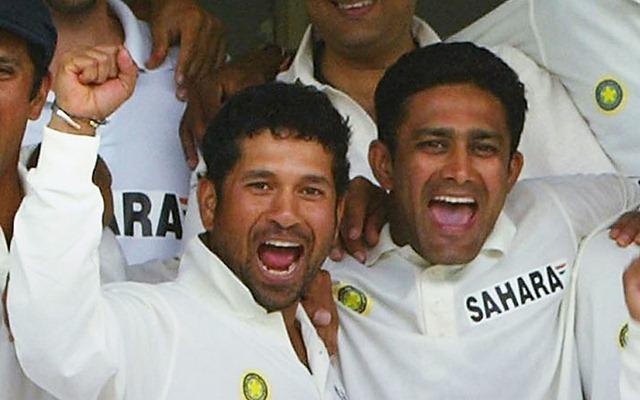Sachin Tendulkar and Anil Kumble