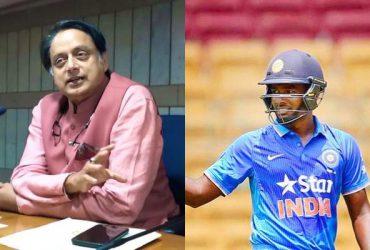Shasi Tharoor and Sanju Samson