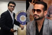 Sourav Ganguly and Irfan Pathan