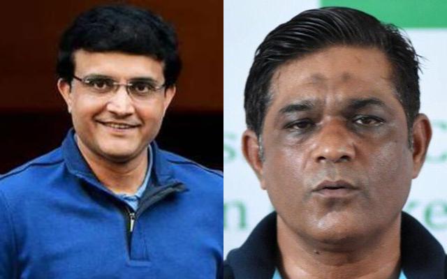 Sourav Ganguly and Rashid Latif