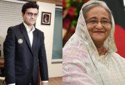 Sourav Ganguly and Sheikh Hasina