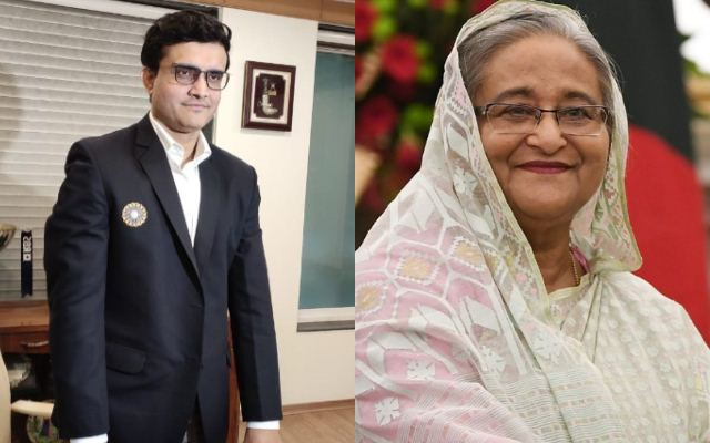 Sourav Ganguly and Sheikh Hasina