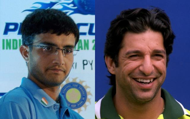 Sourav Ganguly and Wasim Akram