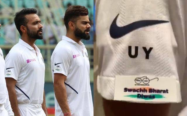 Sticker on India's jersey