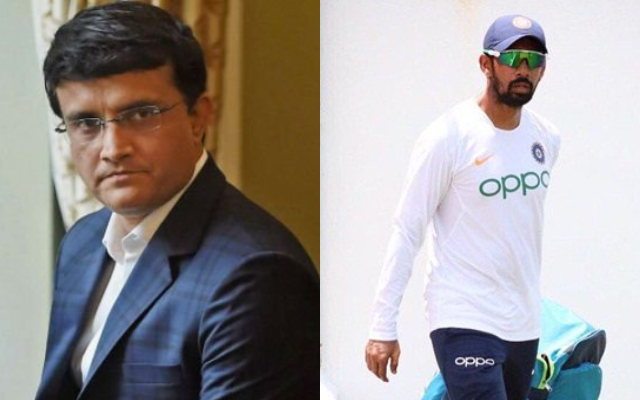Sourav Ganguly and Wriddhiman Saha