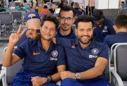 Yuzvendra Chahal morphs his picture with Kuldeep Yadav and Rohit Sharma