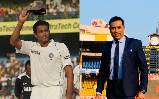 Anil Kumble and VVS Laxman