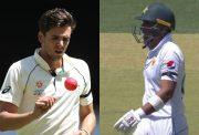Australia and Pakistan players wearing black armbands