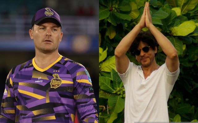 Brendon McCullum and Shahrukh Khan