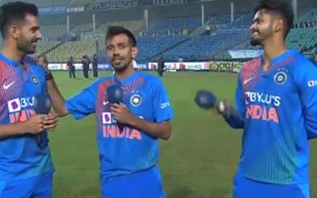 Deepak Chahar, Yuzvendra Chahal and Shreyas Iyer