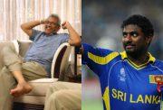 Gotabaya Rajapaksa and Muttiah Muralitharan