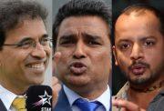 Harsha Bhogle, Sanjay Manjrekar and Murali Karthik