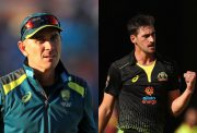 Justin Langer and Mitchell Starc